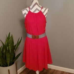 FLASH SALE 3 for $30 💖Red Dress with Striped Belt
